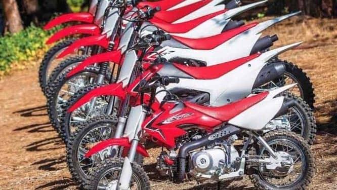 tamaños de motos
